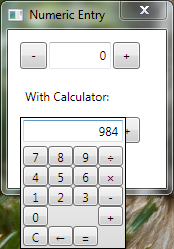 A WPF Numeric Entry Control with Pop-up Calculator