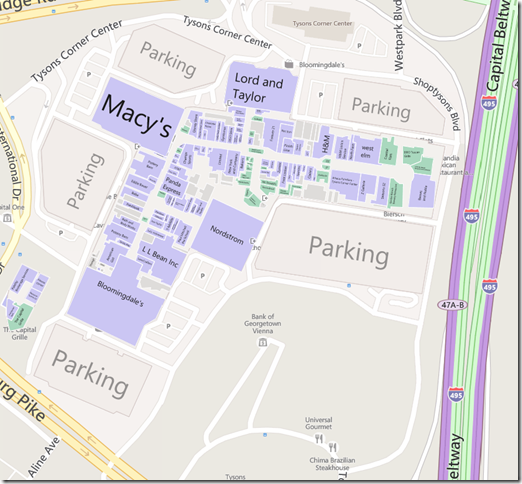 Tysons Corner Mall Map 50 Reasons You Should Be Using Bing | Philosophical Geek Tysons Corner Mall Map